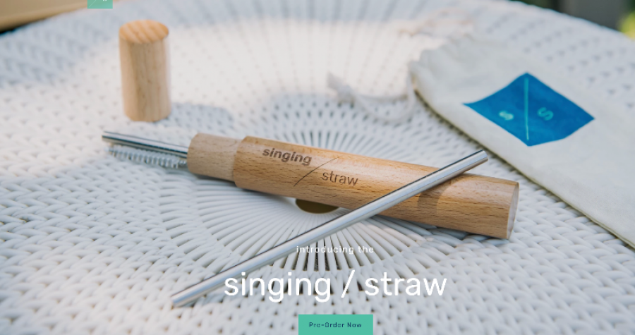 The sustainable singing straw